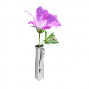 Sterling Silver Simple Lapel Flower Holder