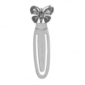 Sterling Silver Marcasite Butterfly Bookmark