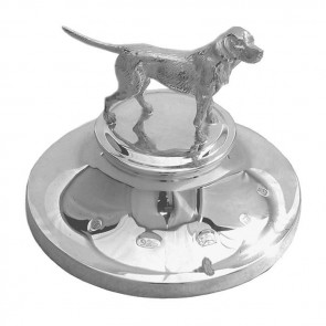 Sterling Silver Hound Paperweight