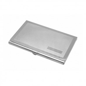 Sterling Silver Two Tone Barley Textured Card Case
