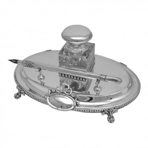 Sterling Silver Victorian Inkwell Set
