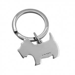 Sterling Silver Scotty Dog Keyring