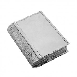 Sterling Silver Book Style Pill Box