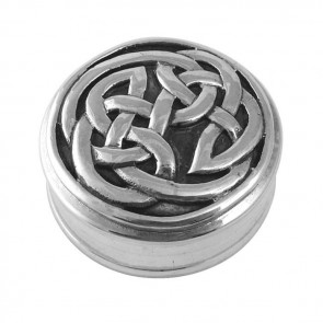 Sterling Silver Celtic Patterned Pill Box