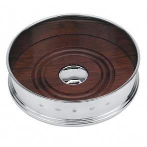 Sterling Silver Straight Bottle Coaster 13cm Dia
