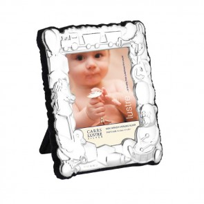Sterling Silver Baby's 8X6 cm Photo Frame With Velvet Back