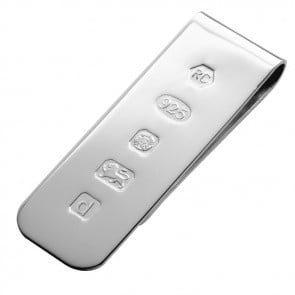 Sterling Silver Feature Hallmark Style Money Clip
