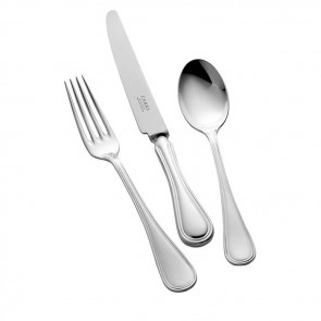Children's Silver Cutlery Set English Thread Design