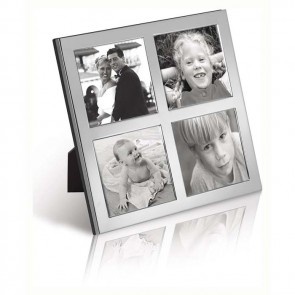 Sterling Silver 6X6 Quad Photo Frame
