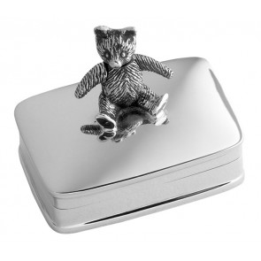 Sterling Silver Movable Teddy Box