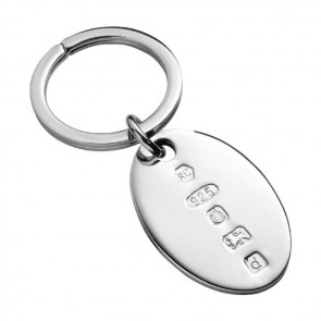 Oval Feature Hallmark Keyring