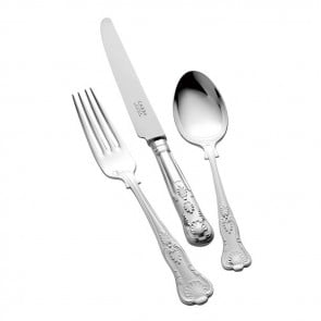 Children's Silver Cutlery Set Kings Design