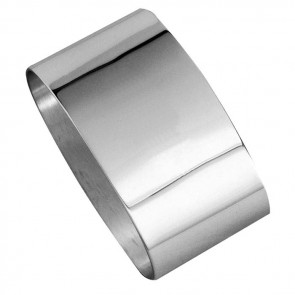 Silver Plated Plain Oval Napkin Ring