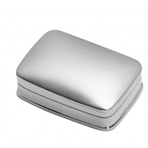 Sterling Silver Pill Box Plain Rectangle