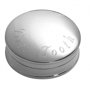 Sterling Silver Round First Tooth Box