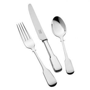 Children's Silver Cutlery Set Plain Fiddle Handle