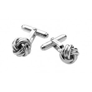 Sterling Silver Knot Post Cufflinks