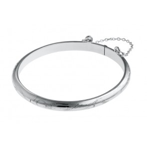 Silver Baby Bangle With Hand Engraving