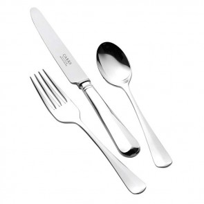 Children's Silver Plated Cutlery Set Rattail Design