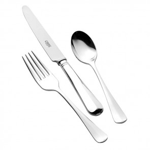 Children's Sterling Silver Cutlery Set Rattail Design