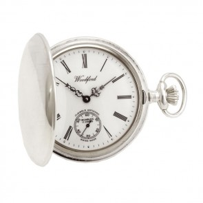 Sterling Silver Simple Swiss Unitas Movement Pocket Watch