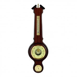 Decorative Veneered Barometer Thermometer And Hygrometer