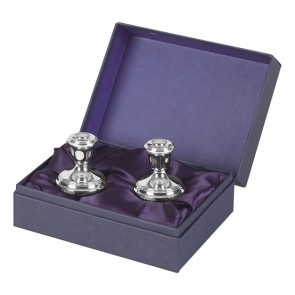 Sterling Silver Two 4 And A Half cm Tall Candlesticks