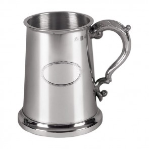 Pewter One Pint Kings Shilling Tankard
