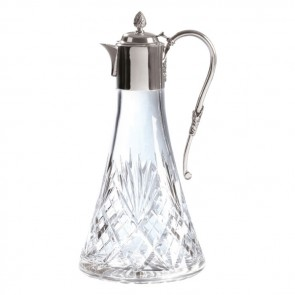Crystal And Silver Hand Cut Claret Jug