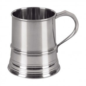 Pewter One Pint Cast Tankard