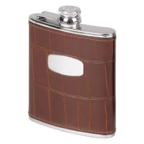 Stainless Steel 17cl Antique Crocodile Style Flask