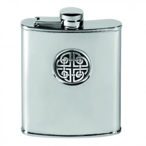 Stainless Steel 17cl Captive Top Celtic Flask
