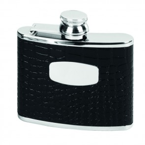 Stainless Steel 11cl Crocodile Style Flask