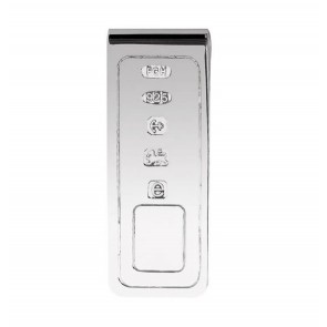 Sterling Silver Lines Style Money Clip