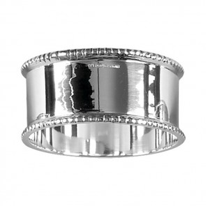 Sterling Silver Bead Border Napkin Ring