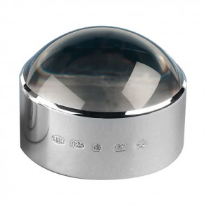 Sterling Silver 2.5 Inch Styled Magnifier Paperweight