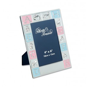 6 X 4 Inch Silver Plated Childrens Alphabet Photo Frame