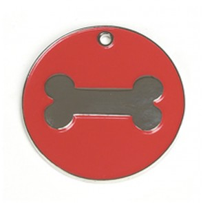 Red Bone Dog Pet Tag