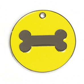 Yellow Bone Dog Pet Tag