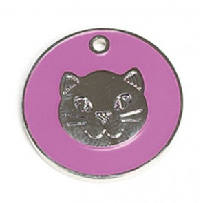 Pink Cat Pet Tag