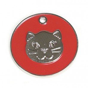 Red Cat Pet Tag