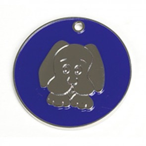 Dark Blue Dog Dog Pet Tag