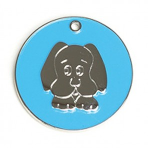 Light Blue Dog Dog Pet Tag