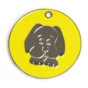 Yellow Dog Dog Pet Tag