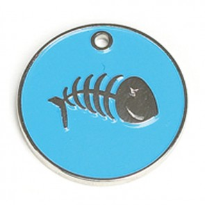 Light Blue Fish Cat Pet Tag