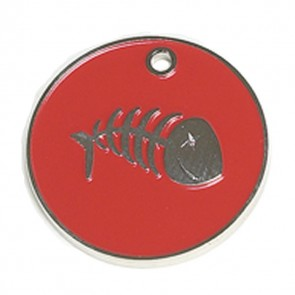 Red Fish Cat Pet Tag