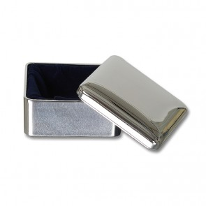 Silver Plated Square Keepsake Box