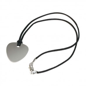Nickel Plated Guitar Plectrum Necklace