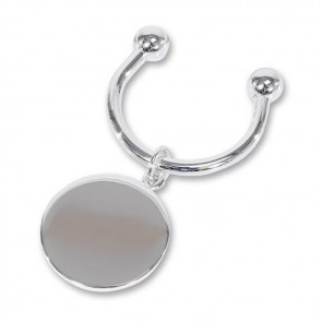 Silver Plated Round Key Ring