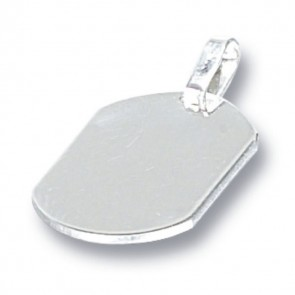 Sterling Silver Oval Tag